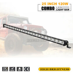 25inch 120w Thin Single Row Led Work Light Bar Offroad 4x4wd Pickup Driving Lamp