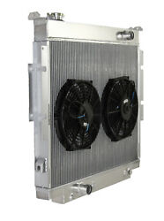 3 Row Performance Radiator+12 Fan For 83-94 Ford F-250 F-350 Diesel V8 Mt Only