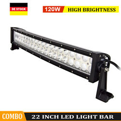 120w 21in Curved Led Work Light Bar Offroad 4x4wd Truck Suv Bumper Driving Lamp