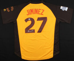 Eloy Jimenez Signed Chicago Cubs 2016 Mlb Futures Game Jersey Jsa Coawhite Sox