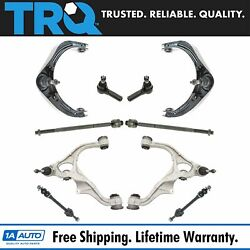 Trq 10pc Steering Suspension Kit Control Arms Tie Rods Sway Bar End Links New