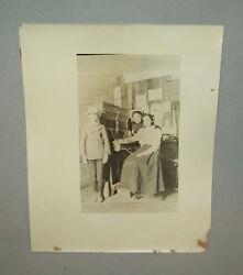 Antique Vtg 1899 Women at Early 1900s Telephone Switchboard Silver Print Photo