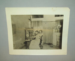 Antique Vtg 1903 Women at Early 1900s Telephone Switchboard Silver Print Photo