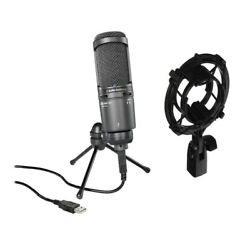 Audio-Technica AT2020USB+ Cardioid Condenser USB Microphone + AT8458 Shock Mount