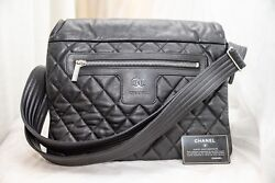VERIFIED Authentic RARE NEW Chanel Cocoon CAVIAR Leather Crossbody Messenger Bag