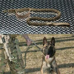 Tactical Leash Quick Release Heavy Duty Panic Snap Adjustable Dog Military Belt