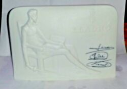 Lladro Dealer Sign Embossed Signatures Minty 6 X 4