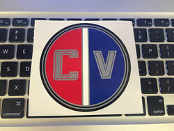 Glastron Carlson Round Emblem Decal Used On Cv-16 Boat And Others Cv 16 18