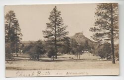 1915 Rppc Postcard Of Thumb Butte In Summer