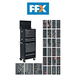 Sealey Sptcombo2 1179pc 14 Drawer Tool Chest And Rollcab Tool Kit