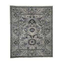 8and0392x9and03910 Undyed Natural Wool Mahal Design Hand-knotted Oriental Rug R41864