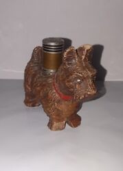 VINTAGE 1930's-40's  SCOTTISH TERRIER STRIKEALITE TABLE TOP CIGARETTE LIGHTER