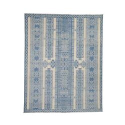 7and03910x9and0398 Pure Wool Peshawar Berber Motif Influence Hand Knotted Rugr41900