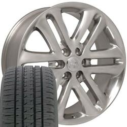 22 Wheel Tire Set Fit Ford Lincoln F150 Style Polished Rims Bda Tires