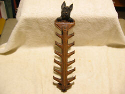 Vintage Burrwood Syroco Wood Scottish Terrier Dog Wall Hanger
