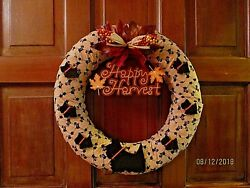NEWLY HANDCRAFTED SCOTTIE FALL DOOR WREATH SCOTTY SCOTTISH TERRIER