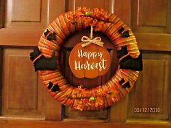 SCOTTIE DOG FALL DOOR WREATH SCOTTY SCOTTISH TERRIER HANDCRAFTED