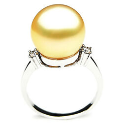 Pacific Pearls® Australia South Sea Golden 14mm Pearl Earrings Anniversary Gifts