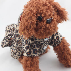 US Pet Puppy Dog Cat Warm Hoodies Leopard Coat Thicken Dresses Lovely Clothes