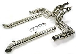 Maximizer Long Tube Header W/side Pipes For 65 To 74 Corvette Bbc Big Block