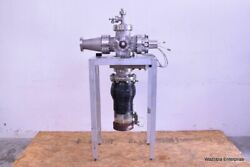 Varian Vacuum Diffusion Pump Wit Swing Gate 951-5218 Mdc Mirror And Nw40 H/o Valve