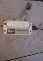 Vintage Johnson Ship Master Boat Control Outboard Motor Controller wCables