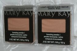 Lot Of (2) Mary Kay Mineral Bronzing Face Powder Light-Medium Set of TWO New
