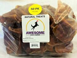 100% Awesome Dog Chews All Natural Pig Ears 50 Count Value Bag - FDA  USDA Insp