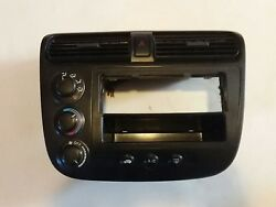 01 02 03 04 05 Honda Civic Radio Bezel Climate Control Unit Hazard Switch OEM