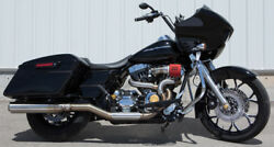 Rooke 2 Into 2 Stainless Steel Exhaust System For Harley Davidson FLHFLT 09-17