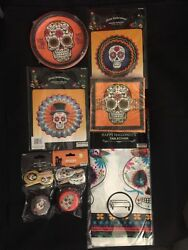 Day Of The Dead Decorations Plates, Napkins, Banner Halloween Party Supplies