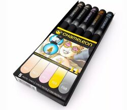 NEW - Chameleon - 5 Pack Pastel PenMarker Set - FREE SHIPPING