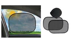 Auto Car Sun Shades 2 Pc Set With Carrying Case Clings To Window