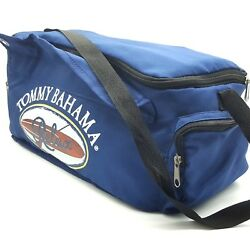 Tommy Bahama Relax Blue Insulated Cooler Bag Lunch Beach Strap Spell Out 16