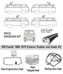 8pcs Baywindow Rubber Seals Kit Type 2 Bus 1968-1979 Kombi Cal Look Transporte