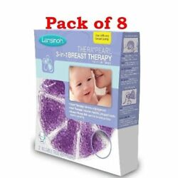 Lansinoh TheraPearl 3-in-1 Hot or Cold Breast Therapy 2 Count (Pack of 8)