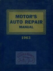 MOTORS AUTO REPAIR MANUAL SHOP SERVICE BOOK 1955-1963