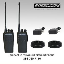 2x Motorola Cp200d Digital Uhf 16ch Two Way Radio + Thick Battery + Charger
