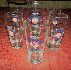 Vtg 1970's Set 6 Collectable Binding Bier 100 Jahre Year Anniversary Glasses