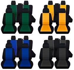 Truck Seat Covers Fits 2015-2018 Ford F 150 Full Set Black Wit Color Inserts Abf