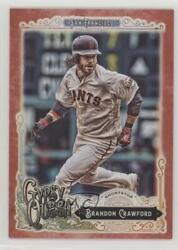 2017 Topps Gypsy Queen Red /10 Brandon Crawford 99