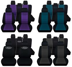 Truck Seat Covers Fits 2015-2018 Ford F150 Custom Name Black And Color Inserts Abf
