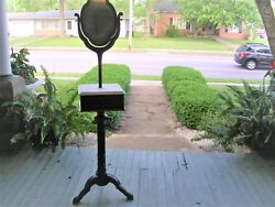 Very Fine Antique Walnut Federal Shaving Stand Only The Elite Owned These C 1860