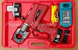 Burndy Patcut129-18v Battery Powered Hydraulic Cable Wire Cutter Rod Cutting New