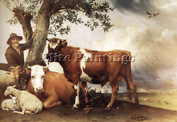 POTTER PAULUS YOUNG BULL ARTIST PAINTING HANDMADE OIL CANVAS REPRO WALL ART DECO