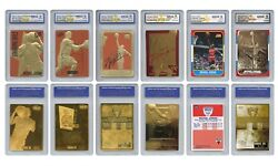 Michael Jordan Mega Deal Licensed Cards Graded Gem Mint 10 SET OF 6 LOW $$$$ $99.95