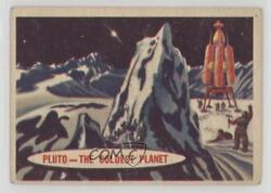 1957 Topps Space Cards Pluto The Coldest Planet 86 K5c