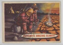 1957 Topps Space Cards #77 Mercury's Amazing Climate Non-Sports Card k5c