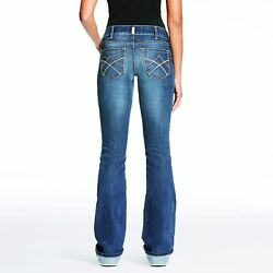Ariat Womenand039s Real Gemstone Mid-rise Boot Cut Tulip Riding Jeans 10023500