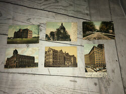 Vintage Postcards Historical High Schools Chruch Cortland Ny Cleveland Ohio 1909